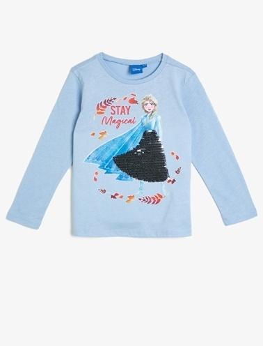 Koton Kids Frozen Lisanslı T-Shirt Mavi